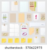 sticker notes vector set  post... | Shutterstock .eps vector #570622975