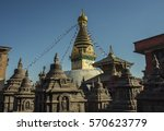 swayambhunath temple in... | Shutterstock . vector #570623779