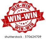 win win. stamp. sticker. seal.... | Shutterstock .eps vector #570624709