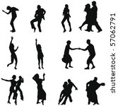 collection of different dance... | Shutterstock . vector #57062791
