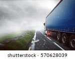 truck in the fog | Shutterstock . vector #570628039