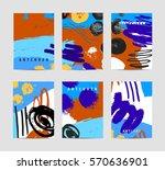 vector set of artistic creative ... | Shutterstock .eps vector #570636901