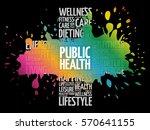 public health word cloud ... | Shutterstock .eps vector #570641155