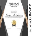 vector certificate template. | Shutterstock .eps vector #570644539