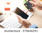 mobile payment  online shopping ... | Shutterstock . vector #570646291