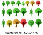 tree icons   raster | Shutterstock . vector #57064675