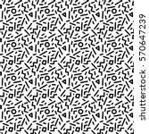 trendy seamless pattern in 80s... | Shutterstock . vector #570647239