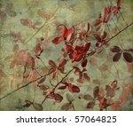 Grunge Antique Flower Background