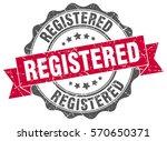 registered. stamp. sticker.... | Shutterstock .eps vector #570650371