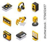 set of isometric multimedia...   Shutterstock .eps vector #570652657