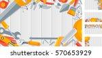 stock vector set horizontal...   Shutterstock .eps vector #570653929
