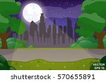 cartoon cityscape. at home.... | Shutterstock .eps vector #570655891