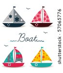 cartoon boats | Shutterstock .eps vector #57065776