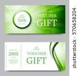 gift company voucher template... | Shutterstock .eps vector #570658204