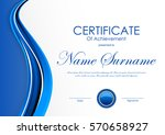 certificate of achievement... | Shutterstock .eps vector #570658927