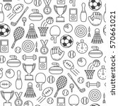 seamless pattern with sports... | Shutterstock .eps vector #570661021
