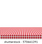 checkered tablecloths pattern... | Shutterstock .eps vector #570661291