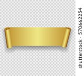 realistic curved paper banner.... | Shutterstock .eps vector #570662254