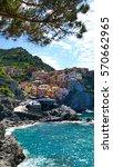 the colorful coast in cinque...   Shutterstock . vector #570662965