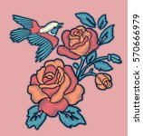 Rose Embroidery Design And...