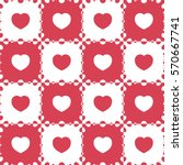 seamless pattern with heart.... | Shutterstock .eps vector #570667741