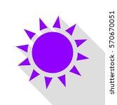 sun sign illustration. violet...