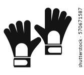 gloves of goalkeeper icon.... | Shutterstock .eps vector #570671587