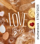 poster bakery with illustrated... | Shutterstock .eps vector #570672025