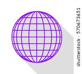 earth globe sign. violet icon... | Shutterstock .eps vector #570673651