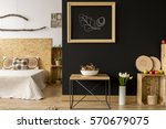 modern studio apartment with... | Shutterstock . vector #570679075