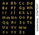 golden alphabet.isolated on...   Shutterstock . vector #570679147