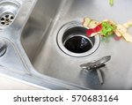 Food waste left in a sink....