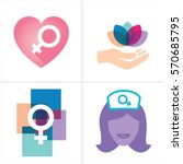 colorful women's services icon... | Shutterstock .eps vector #570685795