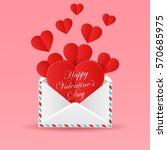 greeting card happy valentine's ...   Shutterstock . vector #570685975