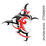 tribal art tattoo | Shutterstock .eps vector #57068644