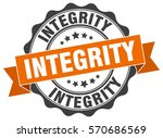 integrity. stamp. sticker. seal.... | Shutterstock .eps vector #570686569
