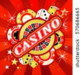 casino party vector game of... | Shutterstock .eps vector #570686665