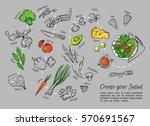 hand drawn vector illustration... | Shutterstock .eps vector #570691567