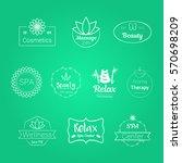 spa wellness body care badges... | Shutterstock .eps vector #570698209
