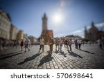 crowd of anonymous people... | Shutterstock . vector #570698641