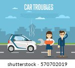 car troubles concept with... | Shutterstock .eps vector #570702019