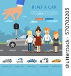 rent a car template with... | Shutterstock .eps vector #570702205