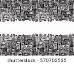 horizontal reflection banner of ... | Shutterstock .eps vector #570702535