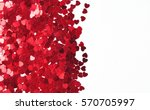 red heart background ... | Shutterstock . vector #570705997