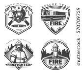 Vintage Firefighting Emblems...