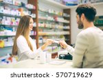 experienced pharmacist... | Shutterstock . vector #570719629