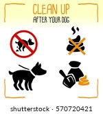 set of information dog icons.... | Shutterstock .eps vector #570720421