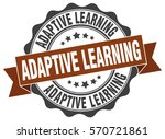 adaptive learning. stamp.... | Shutterstock .eps vector #570721861