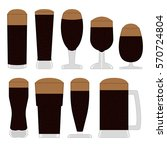 a set of icons beer glasses and ... | Shutterstock .eps vector #570724804