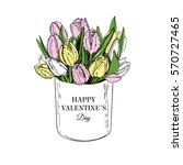 flower box. sketch style. hand... | Shutterstock .eps vector #570727465